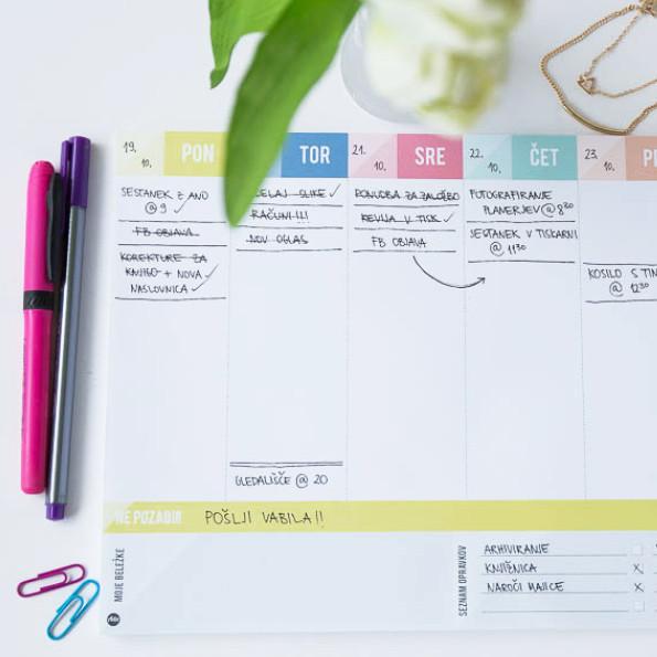 Namizni planer, seznam opravkov